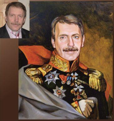 Настоящий портрет маслом на заказ в Владивостоке…