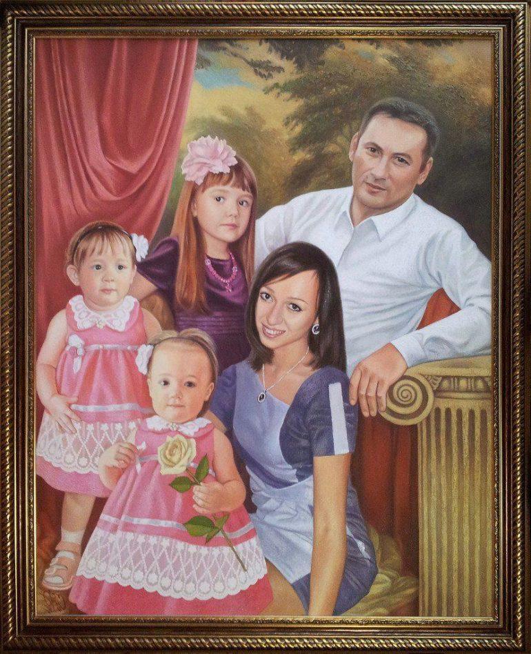 Семейный портрет маслом в Владивостоке — правильная традиция…