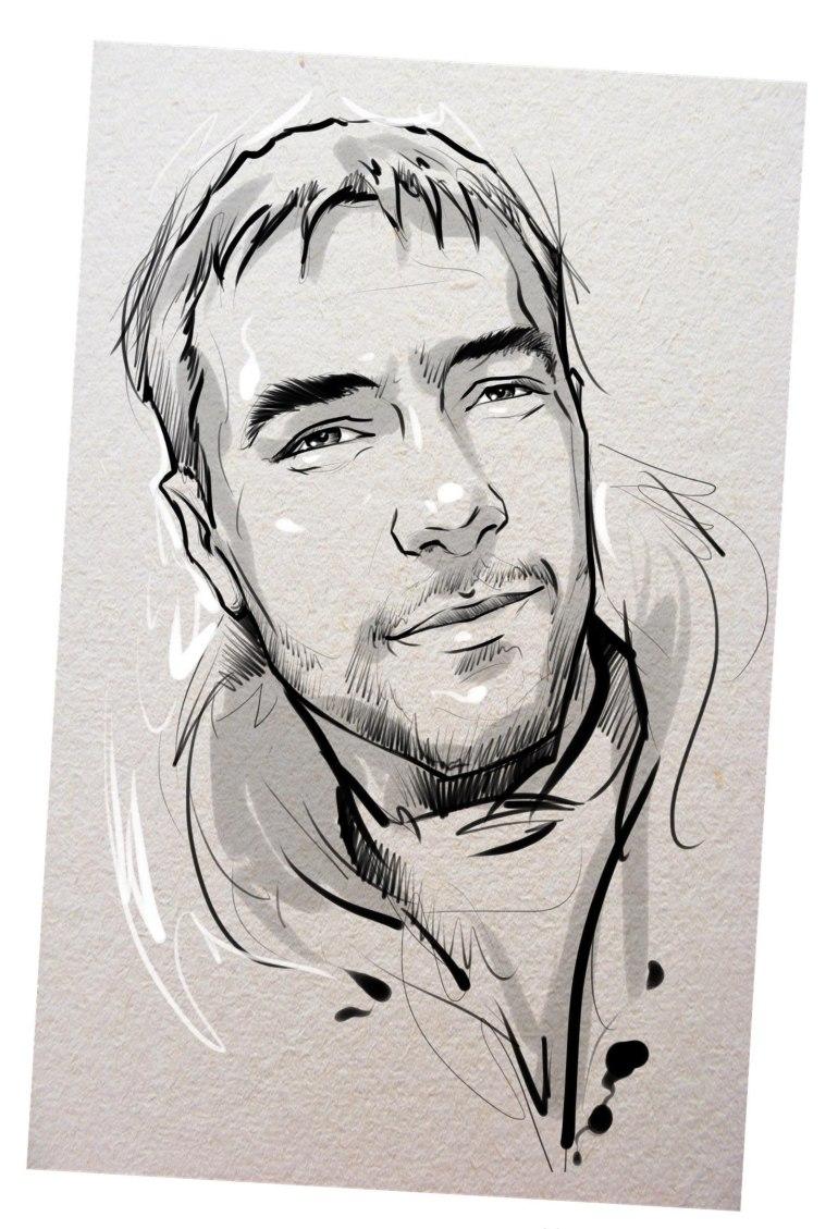 Портрет карандашом любимому мужу в Владивостоке…