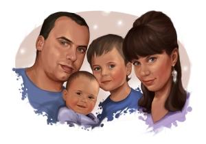 Семейный портрет в подарок