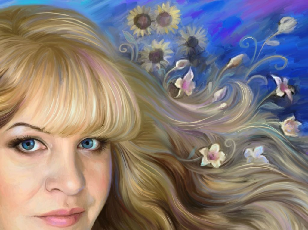 заказать ее портрет на холсте во Владивостоке