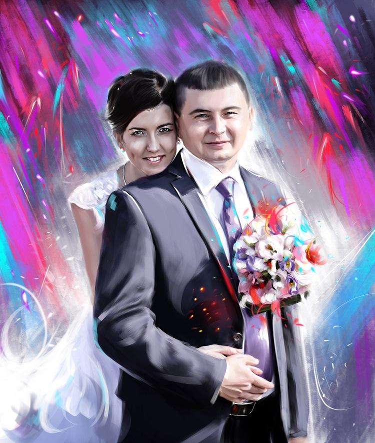 стилизованные портреты на холсте во Владивостоке