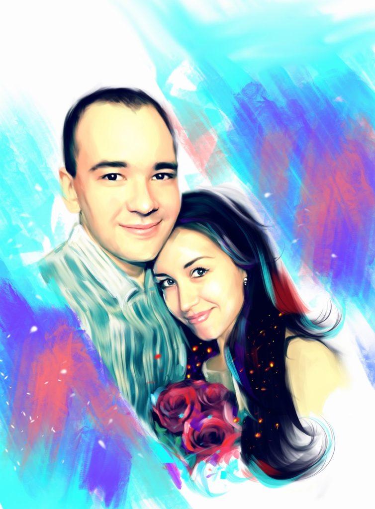 креативный портрет по фото во Владивостоке