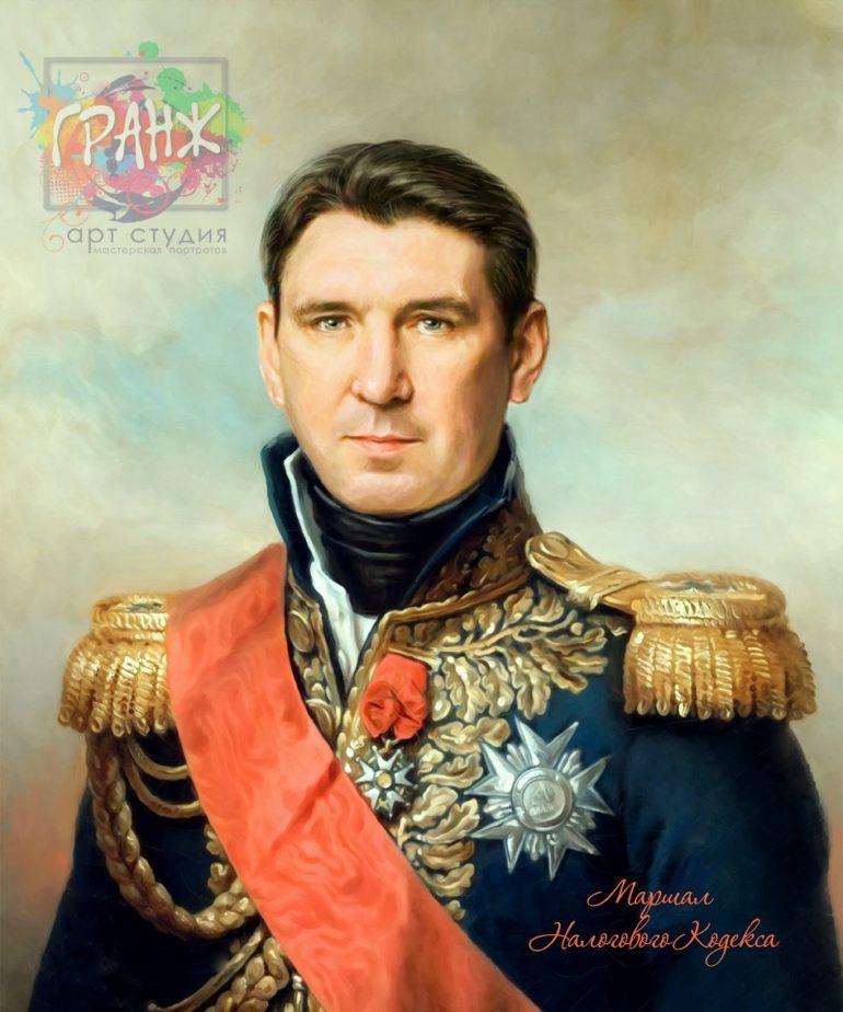 Портрет по фото на холсте в подарок мужчине на 23 февраля Владивосток